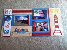 scrapbook page layouts cruise jamaica | Layout: Cozumel Cruise