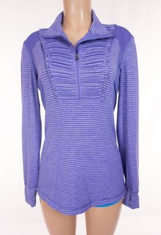LULULEMON Run Your Heart Out Pullover 10 M Medium Purple Gray Heathered Rulu Top #Lululemon #ShirtsTops