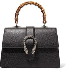 Gucci - Dionysus Bamboo Medium Textured-leather Tote - Black