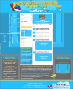 Twitter Style Guide: Sizes & Dimensions for Twitter Graphics & Images. (This infographic shows you the exact size for your graphics on Twitter)