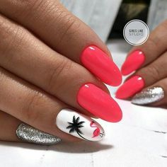 False nails have the advantage of offering a manicure worthy of the most advanced backstage and to hold longer than a simple nail polish. The problem is how to remove them without damaging your nails. Beach Nails, Beach Vacation Nails, Glitter Nail Art, Nail Decorations, Nail Stamping, Perfect Nails, Halloween Nails, Toe Nails, Nail Nail