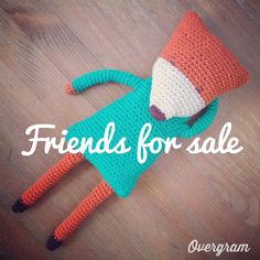 Friends for sale. Knitted toys. Fox.