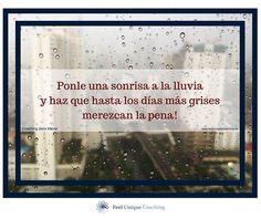 HOY: Saca el paraguas y ponle una sonrisa a los días de lluvia! ¿Qué de bueno tienen los días de lluvia para ti?
