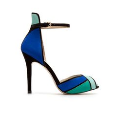 Zara shades of blue ankle strap #sandal, $59.99 #shoes