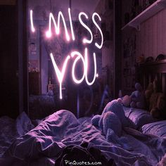 I miss you neon Capa Do Face, Neon Quotes, Neon Words, Photocollage, Purple Aesthetic, Mood, Neon Lighting, I Miss You, Be Yourself Quotes