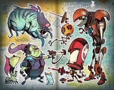 Monsters by CreatureBox , via Behance