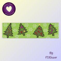 Peyote Pattern / Loom pattern for bracelet: Festive Forest - PDF - buy 2 get 1 free mix and match offer - bp285. $6.50, via Etsy.