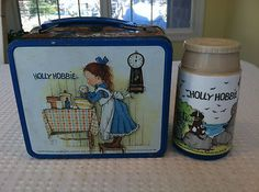 Vintage 1960's 1970's Holly Hobbie Metal Lunchbox Matching Thermos by Aladdin | eBay