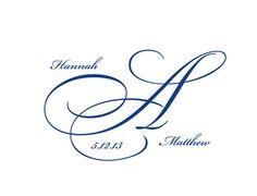Digital Wedding Monogram Wedding Logo Custom Wedding by BridalBust, $10.00