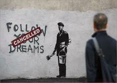 i think this pin completely conveys the message banksy is trying to get across