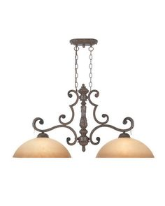 Designers Fountain Lighting 97638 VBG Grand Palais Collection Two Light Hanging Island Chandelier in Venetian Bronze and Gold Finish | Quality Discount Lighting