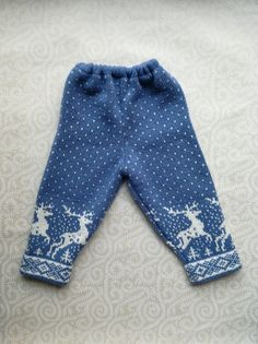 Stylish pants with deer pattern for children