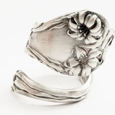 Lily Flower Sterling Silver Spoon Ring