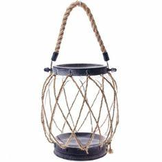 Nautical Rope Candle Lantern - Large http://shop.crackerbarrel.com/Nautical-Rope-Candle-Lantern-Large/dp/B00IO4YSQG