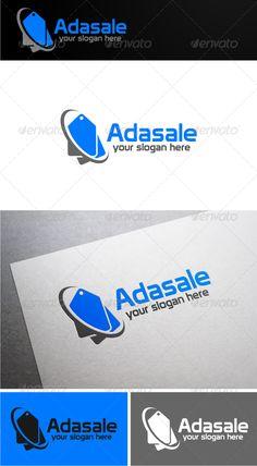 Adasale Logo Template (Symbols) Sale Logo, Pictogram, Of Brand, Business Design, Logo Templates, Slogan, Fonts, Typography
