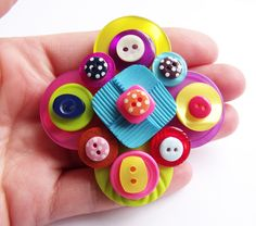 Button Brooch £12.00