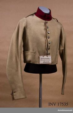 The Museum of the Army in Sweden bohuslan an infantry jacket of a departmental legion is retained (1815).  The buttons are stamped with the fleur de Lys.