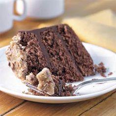Bourbon-Chocolate Cake With Praline Frosting