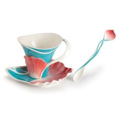 Image detail for -Franz Porcelain Collection Spring Periwinkle Spoon