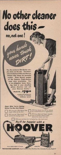 Hoover Vacuum Cleaner Does This (1949)