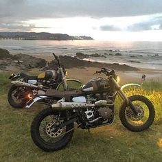 Scramblers & Trackers | Tag #scramblerstrackers | Triumphs by @tonupgarage #tonupgarage #triumph #bonneville #triumphscrambler #scrambler #tracker #scramblers #trackers. See more on our profile or at www.facebook.com/scramblerstrackers