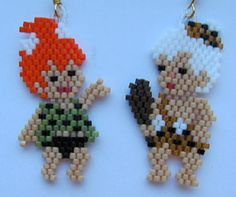 Here is a set of beautiful stoneage baby girl and Boy. They measure 3/4 x 1 1/2. They were beaded by me in a smoke free home.
