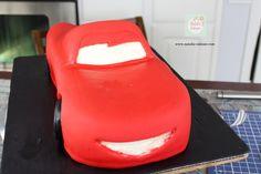 Rayo McQueen Cake paso a paso| Natalia Salazar - Disney Cars Party, Disney Cars Birthday, Lighting Mcqueen Cake, Mc Queen, Kiwi, Cakes, Projects, Top, Car Cakes