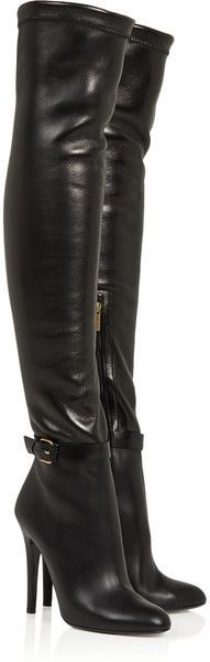 Jimmy Choo ~ Tamba Stretch Leather Over The Knee Boots