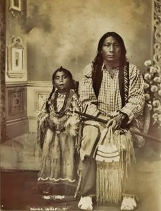 Arapaho: Black Wolf and his daughter-1885. Pinned by indus® in honor of the indigenous people of North America who have influenced our indigenous medicine and spirituality by virtue of their being a member of a tribe from the Western Region through the Plains including the beginning of time until tomorrow.