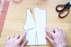 Descubre cómo trasladar las pinzas de un patrón de una forma súper sencilla y rápida
