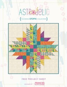 "astrodelic_instructions_cover.jpg (541×700) makes 42"" quilt before borders. Terra Australis fabric Project 2  Border- four square alternating with white?"