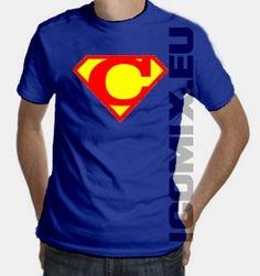 Superman Logo T-Shirt Letter C