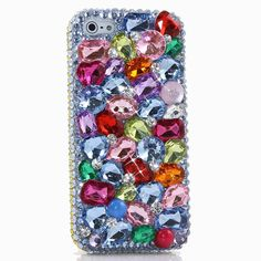 """iPhone 6S PLUS Bling Case, iPhone 6 PLUS Case - LUXADDICTION [Premium Quality] 3D Handmade Crystallized Bling Case Swarovski Crystals Diamond Sparkle Colorful Rainbow Color Stones Cover. Extremely detailed crystallized bling case for iPhone 6S PLUS and iPhone 6 PLUS (5.5"""" display). The design images may be shown on another phone / device. The exact same design will be made for your iPhone 6 / 6S PLUS. The production time is about 1-2 weeks. This LuxAddiction Case is 100% handcrafted just…"""