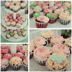 Mini cupcakes Garden themed birthday party