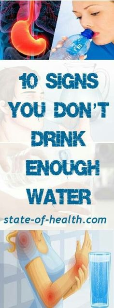 10 Signs You Are Not Drinking Enough Water. 10 Signs You Are Not Drinking Enough Water. Health And Wellness, Health Care, Health Fitness, Holistic Wellness, Fitness Tips, Wellness Tips, Not Drinking Enough Water, Drinking Water, Endocannabinoid System