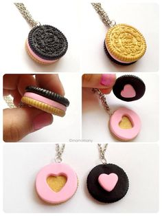 Oreo Best Friends necklace Me and my BFF want this! Crea Fimo, Fimo Clay, Polymer Clay Charms, Polymer Clay Creations, Polymer Clay Jewelry, Bff Necklaces, Best Friend Necklaces, Friendship Necklaces, Cute Necklace