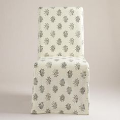One Of My Favorite Discoveries At WorldMarket Block Print Long Anna Chair Slipcover SlipcoversDining Room