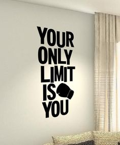 Items similar to SALE Your only limit is you MMA Workout Motivational Fitness Gym workout Quote wall vinyl decals stickers DIY Art Decor Home Happiness on Etsy Gym Workout Quotes, Mma Workout, Gym Quote, Gym Workouts, Wall Workout, Positive Quotes, Motivational Quotes, Inspirational Quotes, Gym Slogans