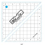 half square triangle ruler 5.5 inch x 5.5 inch