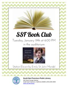 Book Club Station Eleven, South San Francisco, West Orange, Auditorium, Club, Frame, Books, Picture Frame, Libros