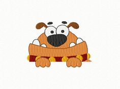 Friendly Doggy  Machine Embroidery Design  2 by TedandFriends, $2.00