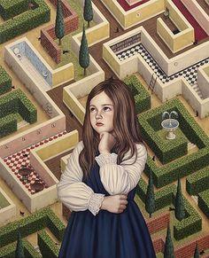 LABYRINTH HOUSE | Shiori Matsumoto ノスタルジックな少女たちの世界を描く松本潮里の絵画作品集