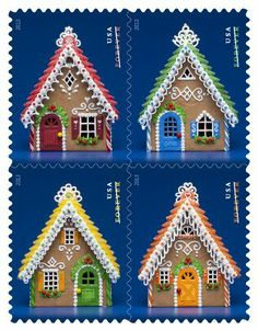 Holiday Stamps 2013 - Gingerbread Houses stamp