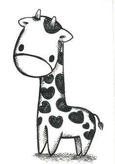 Doodles doodles in 2019 draw, cute drawings, giraffe drawing. Easy Giraffe Drawing, Baby Animal Drawings, How To Draw Giraffe, Animal Sketches Easy, Cute Drawings Of Animals, Giraffe Painting, Kawaii Drawings, Cute Animal Drawings Kawaii, Kawaii Art