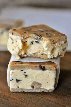 Chocolate Chip Cookie Dough Ice Cream Sandwiches | Just a good recipe