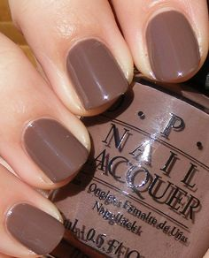 OPI ~ Over The Taupe. I'm wearing this right now!!!! I love it!!!! Its like a realllllly brown mauve.