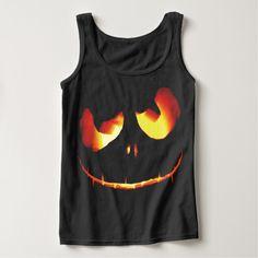 Pumpkin Devil Halloween Custom Tanktops