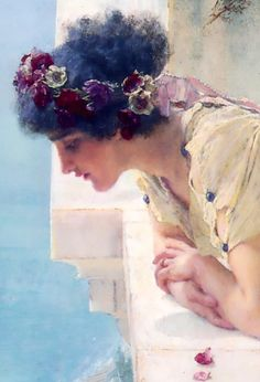 Lawrence Alma-Tadema, A coign of vantage, 1985.(detail)