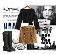 """ROMWE 3/V"" by saaraa-21 ❤ liked on Polyvore featuring Nicholas Kirkwood, WALL and romwe"
