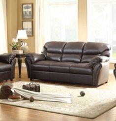 Stinett Traditional Dark Brown AireHyde Sofa